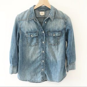 Wilfred free chambray button down shirt Small